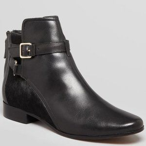 Diane Von Furstenberg Leather Calf Hair Booties